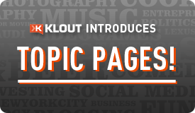 Klout topic pages
