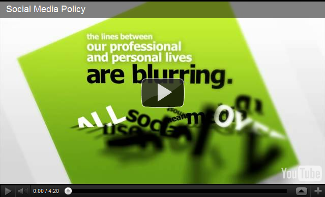 Social media policy video from Australian government department