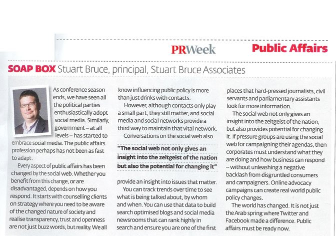 Public Affairs: Soap Box | PRWeek