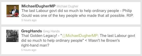 Michael Dugher Greg Hands retweet