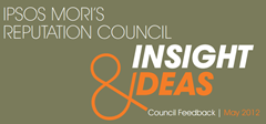 Reputation Council Insight and Ideas May | Ipsos MORI