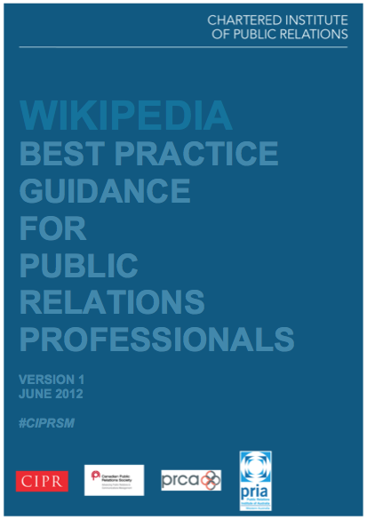 CIPR Wikipedia Guidance