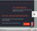 Social media newsrooms at CIPR Social Summer