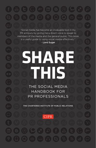 Share This: The Social Media Handbook for PR Professionals cover