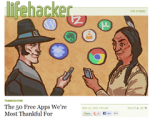 "Lifehacker's ""50 free apps we're most thankful for"""