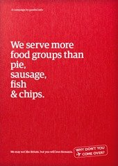 We serve more food groups than pie, sausage, fish & chips