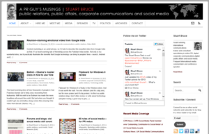 Stuart Bruce | A PR Guy's Musings screen shot