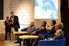 Future of PR panel with Paul Holmes at World Communication Forum in Davos