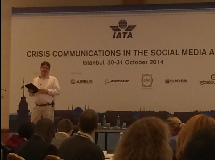 Future of PR and social media for International Air Transport Association crisis communications conference