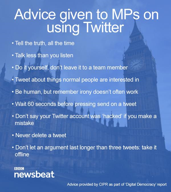 BBC Newsbeat Twitter tips infographic