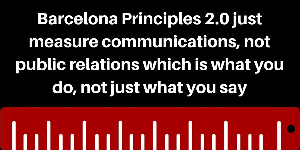 Barcelona Principles 2.0 just measure communications not PR