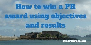 How to win a PR award using objectives and results photo