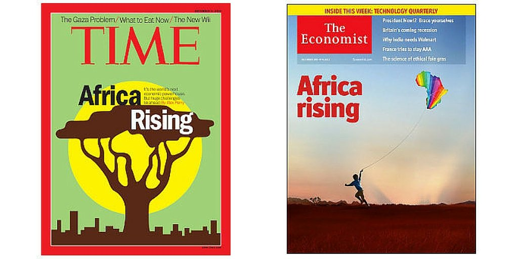 Africa Rising - Time and The Economist covers