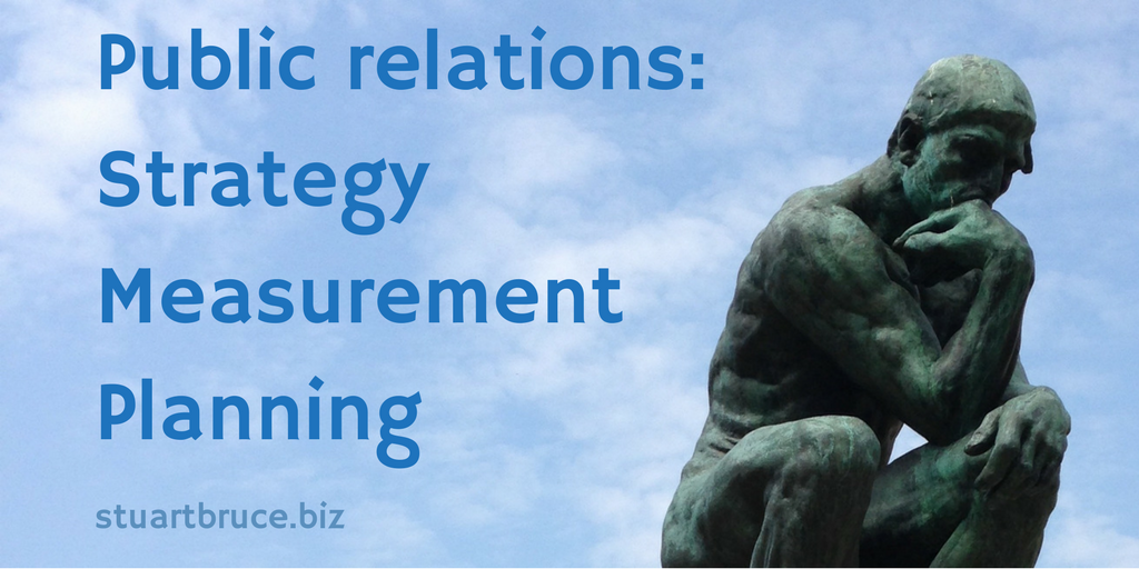 Public Relations Strategy Measurement Planning photo of The Thinker