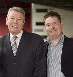Stuart Bruce and former Labour Cabinet Minister Alan Johnson MP