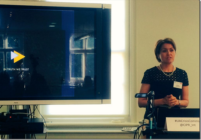 Photo of Nataliya Popovych, co-founder and board member of the Ukraine Crisis Media Center