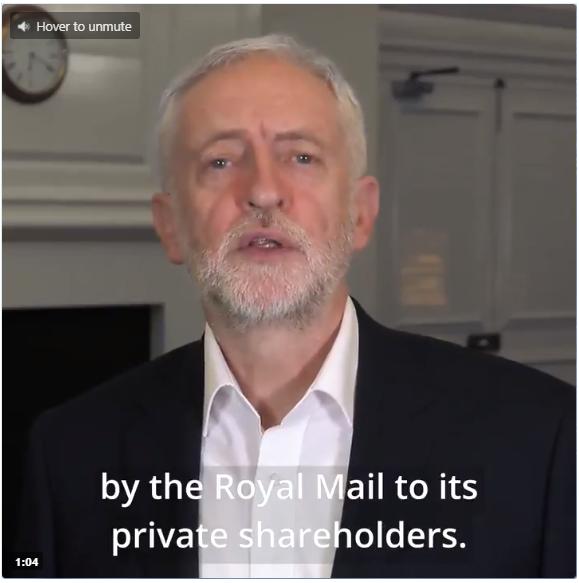 Jeremy Corbyn attacks Royal Mail photo