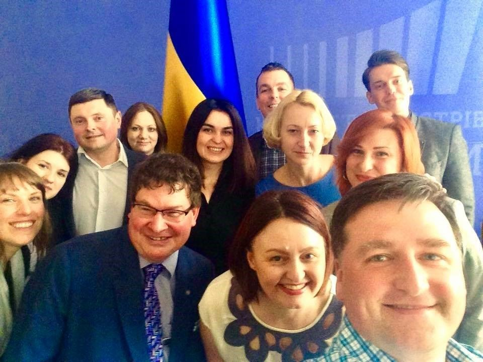 Ukrainian Prime Minister PR team photo