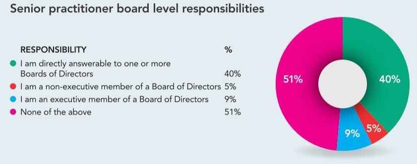 Senior PR practitioner board level responsibilities  graph