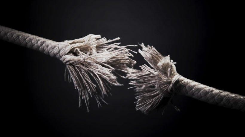 Frayed rope photo